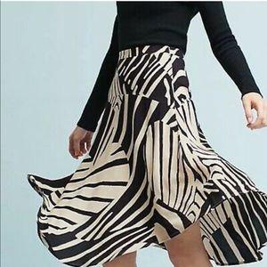 anthropologie maeve zebra heart skirt